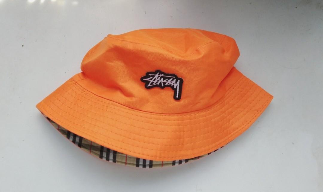 Stussy Orange bucket hat