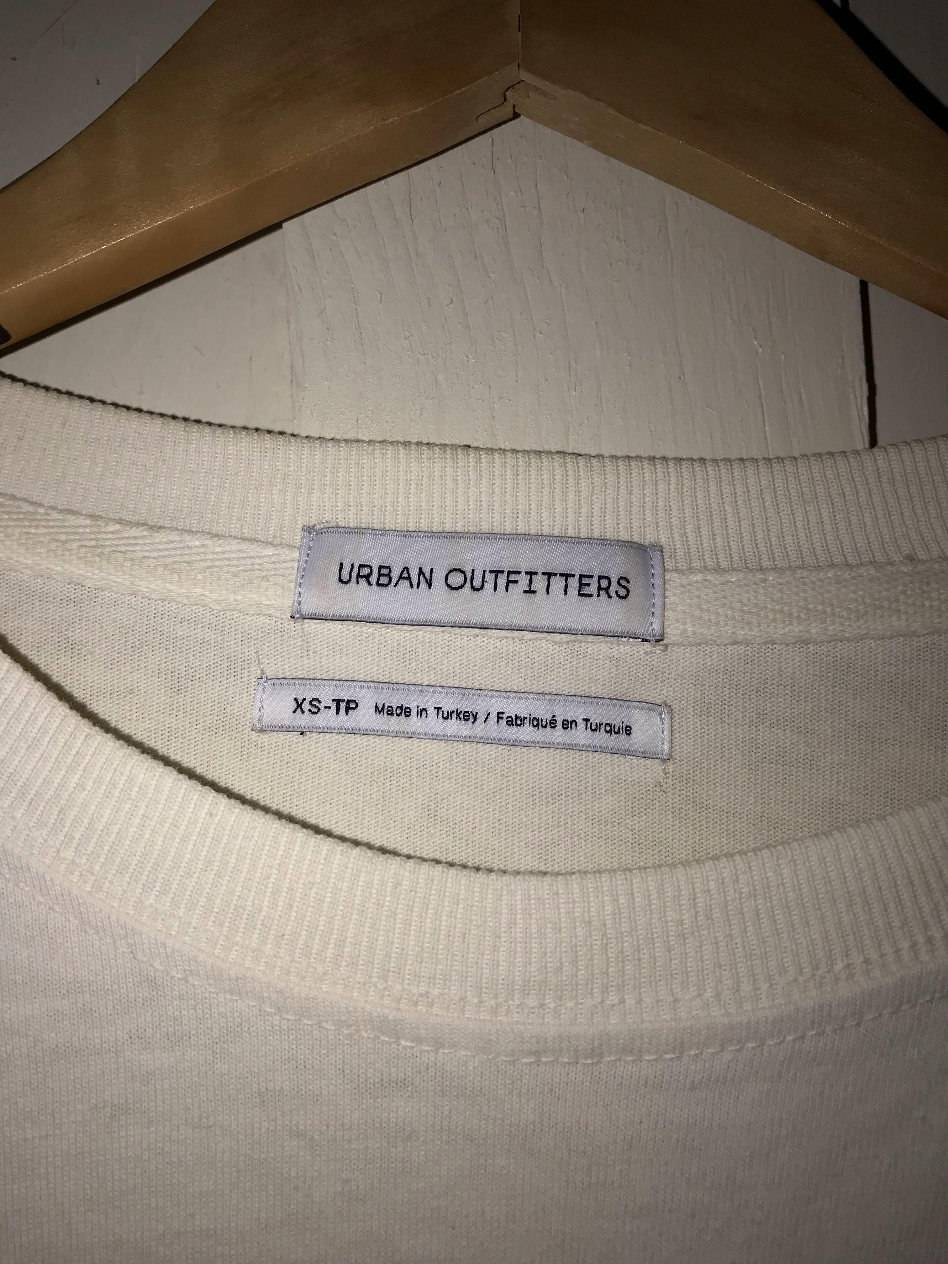 URBAN OUTFITTERS off white plain shirt