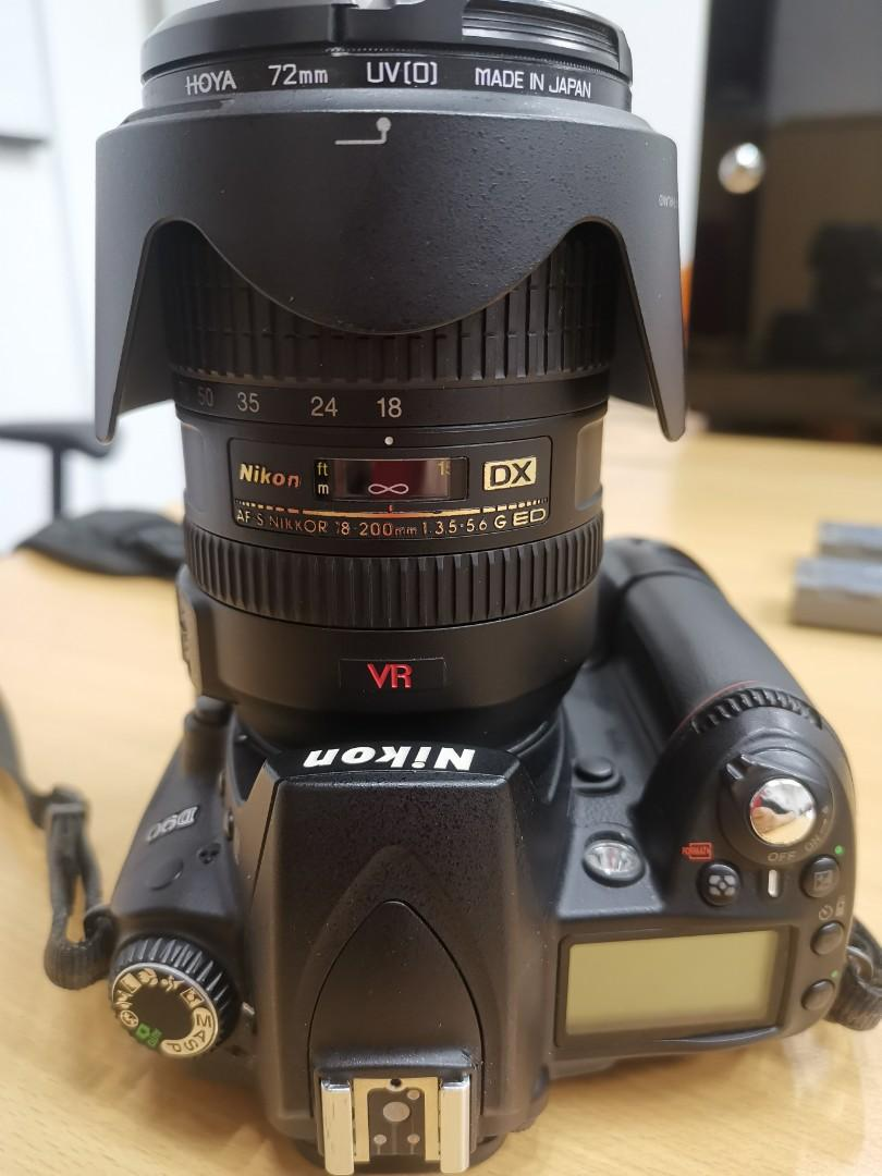 Used Nikon D90 / 18-200 lens / dry box, Photography, Cameras