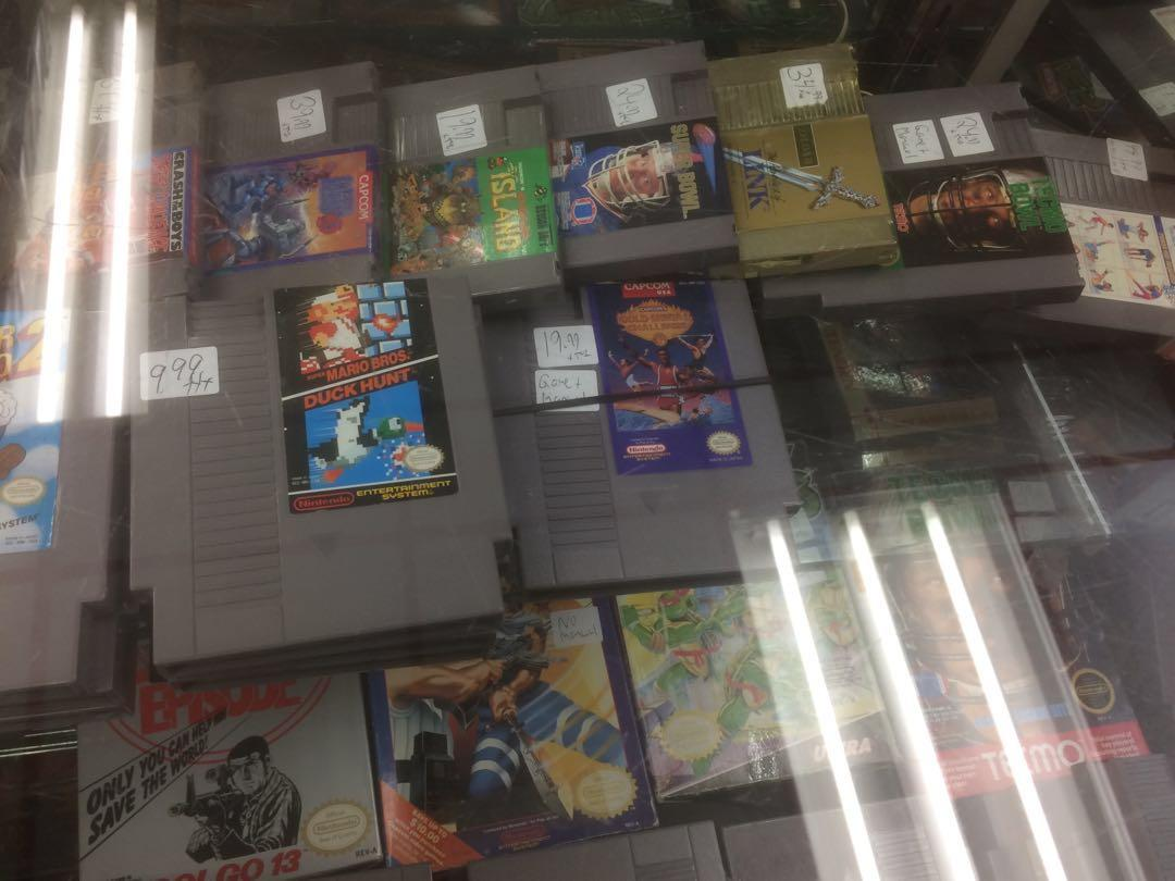Vintage video games assorted prices (see stickers on games or message)
