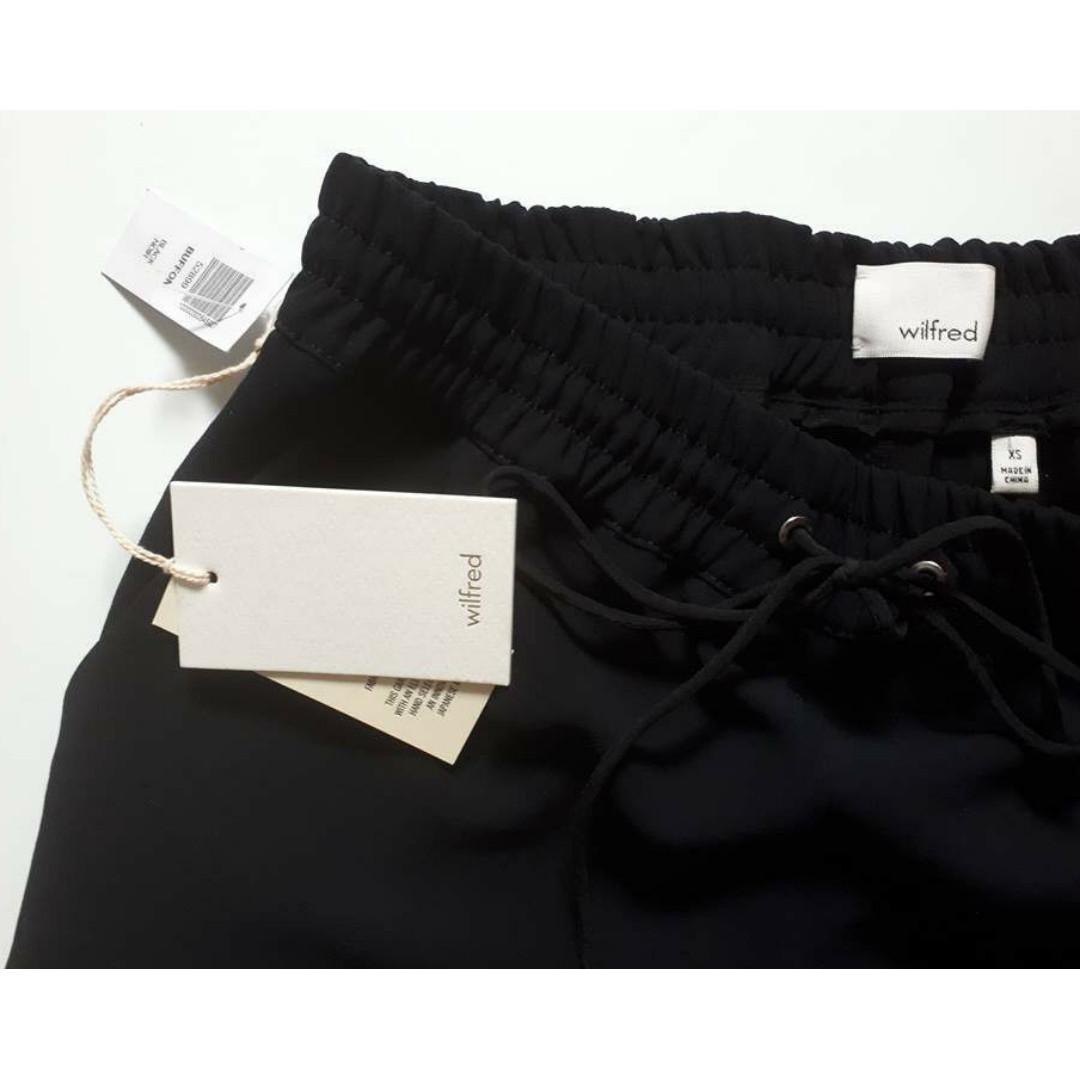 Wilfred Buffon Pant Dressy Jogger Size XS in Black