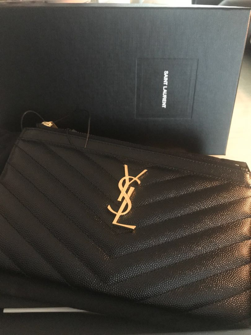8b377a77fc9 YSL Bill Pouch/ Wallet/ Clutch, Luxury, Bags & Wallets, Clutches on ...