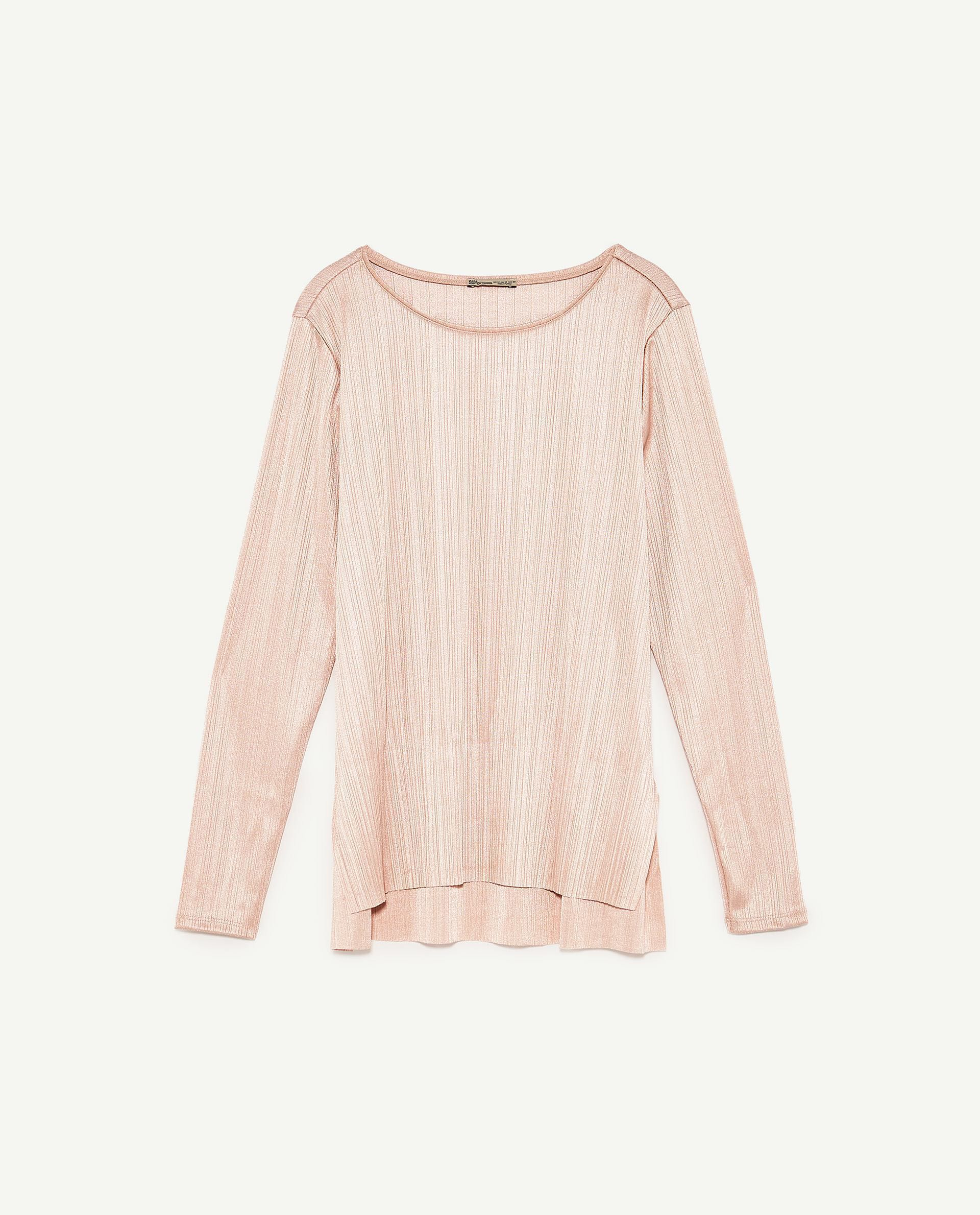 f072b744a2a3e3 ZARA Pastel Pink Long-sleeved Top, Women's Fashion, Clothes, Tops on ...