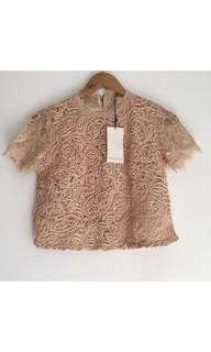 Lace cords top