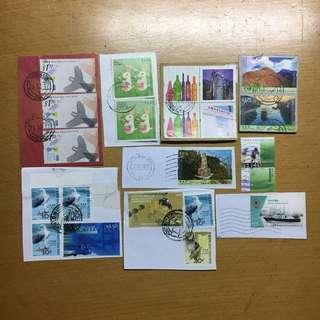 香港本地已蓋印郵票 罕有絕版款信銷票
