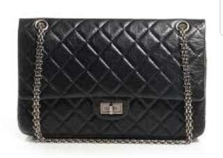Authentic Chanel Black Reissue 226