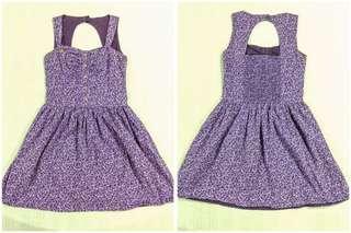 Candies Purple floral dress