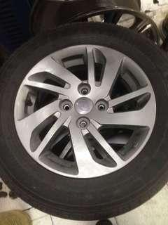 """Sport rim with tyre 14"""""""
