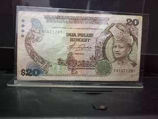 Duit Lama Malaysia RM20 1982