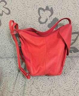 Bright Orangy Red Handbag Sling Bag Small