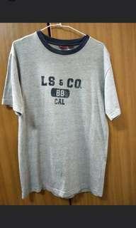 🚚 Levi's 灰色純棉短袖潮t L