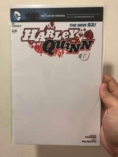 🚚 Harley Quinn #0 Blank Cover Variant