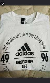 🚚 Adidas 白色周年紀念款短袖 棒球情人高國輝同款 M 全新含吊牌