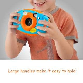 2566. Creative Kids Digital Camera Rechargeable Kids Cameras 1.77 inch Screen HD Video Action Camcorder Christmas New Year Birthday Festival Toy Gift for Children Boys Girls (Blue & Orange)