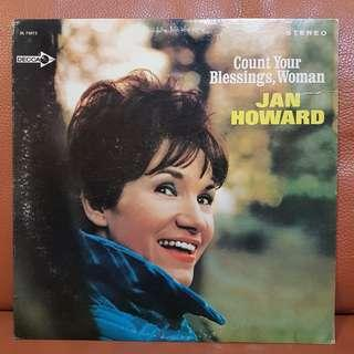 Jan Howard -- Count Your Blessings, Woman Vinyl Record