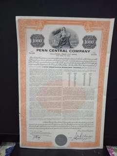 Bond Lama Penn Central Company $1000 Dollar 1993