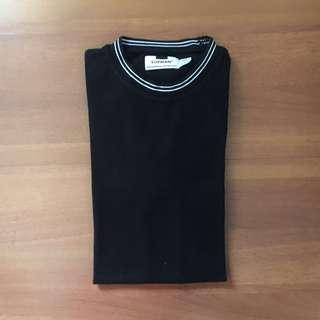 TOPMAN Black shirt with white detail