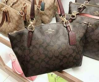 SMALL KELSEY SATCHEL IN SIGNATURE CANVAS (COACH F28989)