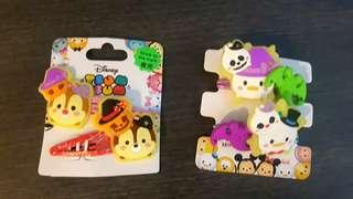 (GLOW IN THE DARK) Tsum tsum Hair clip & rubber ties