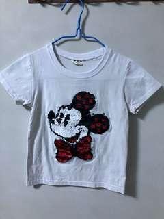 Sequin Mickey Tshirt