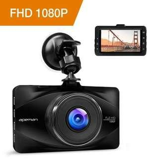 """2467. APEMAN In Car Dash Cam 1080P FHD Camera Metal DVR Digital Driving Video Recorder for Cars 3"""" LCD Screen 170°Wide Angle 6G Lens with WDR Loop Recording G-sensor Parking Monitor and Motion Detection"""