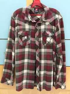 Quiksilver flannel long sleeve shirts