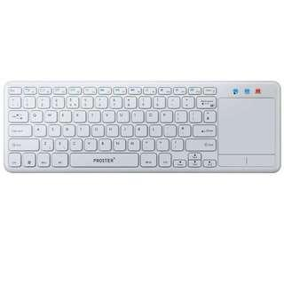 2429. Proster Wireless 2.4G Keyboard Ultra Slim Wireless Touch Keyboards with Multi Touch Touchpad for Android TV Box Smart TV Tivo Box PS3 HTPC IPTV XBMC PC Laptop White