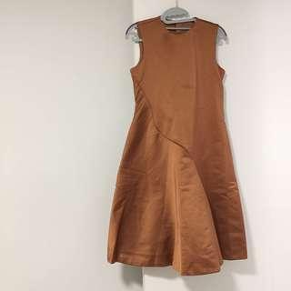 COS orange party dress