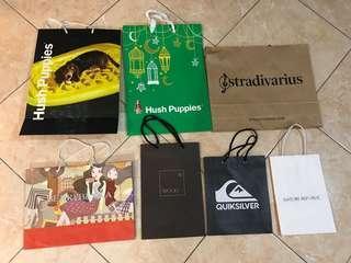 All Paper Bag 50k HUSH PUPPIES, STRADIVARIUS, BERRYBENKA, WOOD, QUICKSILVER, & NATURE REPUBLIC