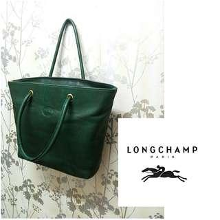 Authentic Longchamp Leather Tote Bag