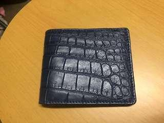 Pelgio 鱷魚皮銀包