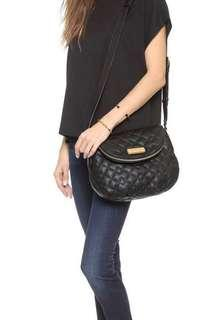 Authentic MARC BY MARC JACOBS Quilted Leather Natasha crossbody in black