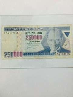 Duit Lama Turki 250000
