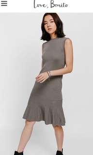 Agiva Fluted Hem Knit Dress