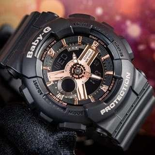 🚚 NEW🌟ARRIVAL in BABYG SPORTS WATCH : 1-YEAR OFFICIAL WARRANTY : 100% Original Authentic BABY-G RESISTANT ABSOLUTELY TOUGHNESS : BEST GIFT For Most Rough Users: BA-110RG-1ADR / BA-110RG-1A / BA110RG-1 / CASIO / BABYG / WATCH