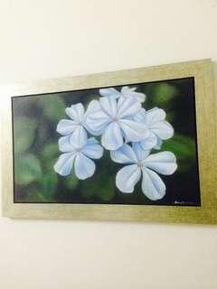 Lukisan bunga hidup seni jauhari