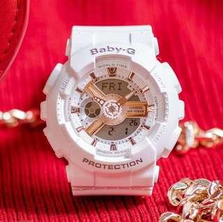 🚚 NEW🌟ARRIVAL in BABYG SPORTS WATCH : 1-YEAR OFFICIAL WARRANTY : 100% Original Authentic BABY-G RESISTANT ABSOLUTELY TOUGHNESS : BEST GIFT For Most Rough Users: BA-110RG-7ADR / BA-110RG-7A / BA110RG-7 / CASIO / BABYG / WATCH