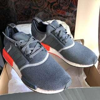 12dc93fe6 Adidas NMD R1 Dark Grey   Red