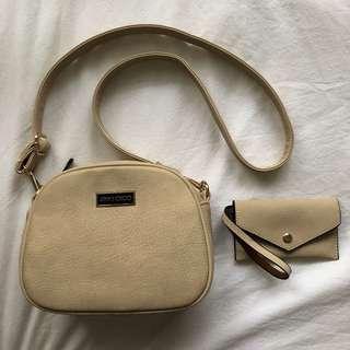 Fake Jimmy Choo Cream Bag