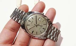 Timex美國80年代初期大力牌 Automatic自動機械單曆手錶'手表直徑33mm,付註, 時針&分針有鬆脫,需要師傅修理''或更換時針&分針,其他機件運行沒有問題, 合手錶收藏家,識修理手表人仕。