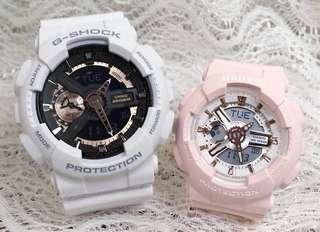 🚚 COUPLE💝 PAIR🌹SET in BABYG GSHOCK : 1-YEAR OFFICIAL WARRANTY in 100% ORIGINAL AUTHENTIC BABY-G-SHOCK RESISTANT: Best Gift For Most Rough Users: GA-110RG-7A + BA-110RG-4A / GA110RG-7A / BA110RG-4 / GSHOCK / BABYG / WATCH