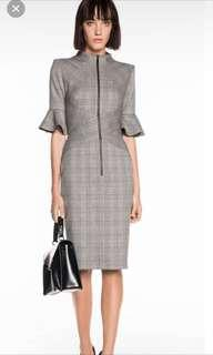 CUE Houndstooth Corporate Midi Dress