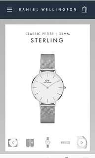 DW Classic Petite Sterling White