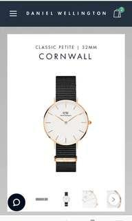 DW Classic Cornwall White inner Silver & Rosegold hardware