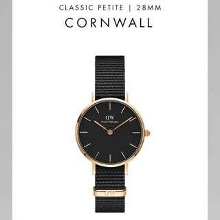 DW Classic Cornwall Black inner Silver and Rosegold hardware