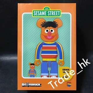 12月新貨!全新未開封 Medicom Toy Bearbrick Be@rbrick 100%+400% Ernie 芝麻街 Sesame Street