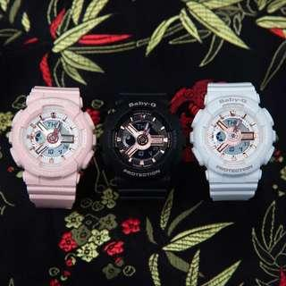 🚚 NEW💝ARRIVALS in BABYG SPORTS WATCH : 1-YEAR OFFICIAL WARRANTY : 100% Original Authentic BABY-G in ABSOLUTELY TOUGHNESS : BEST Gift For Most Rough Users & Unisex: BA-110RG-7A / BA-110RG-1A / BA-110RG-4A / BABYG / CASIO / WATCH