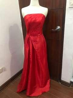 Red Tailored long gown