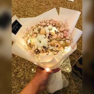 Soft Pink Fresh Baby Breath Bouquet 💐