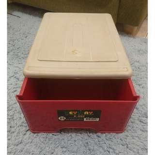 🚚 二手 10L抽屜式整理箱/抽屜式收納箱/置物箱/抽屜箱/抽屜櫃 收納組合 單抽屜收納箱 抽屜收納箱 K092 10公升